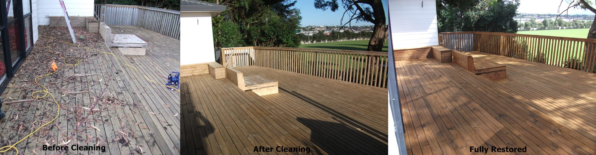 how to clean mould from timber deck